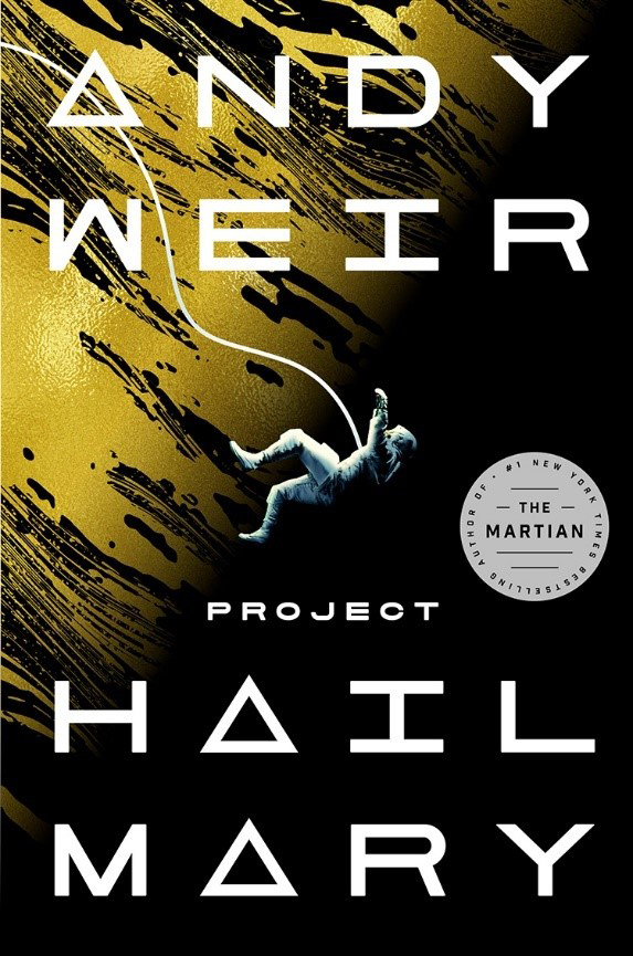 book cover for project hail mary